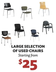 Used Chairs Starting From $25 At Desks Plus