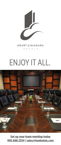 Set up your team meeting today at HEART OF NIAGARA HOTELS